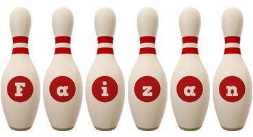 Faizan bowling-pin logo