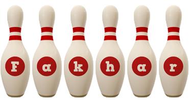 Fakhar bowling-pin logo