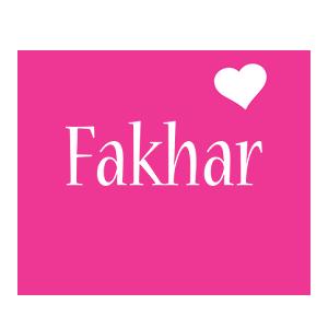 Fakhar love-heart logo