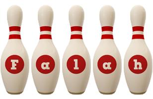 Falah bowling-pin logo