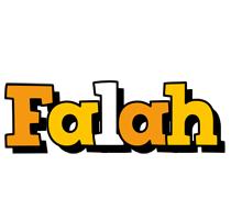 Falah cartoon logo
