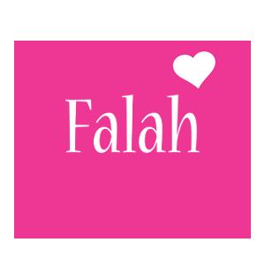 Falah love-heart logo