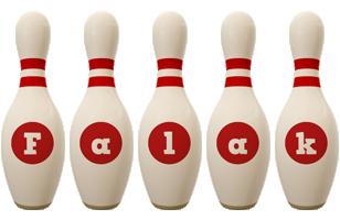 Falak bowling-pin logo