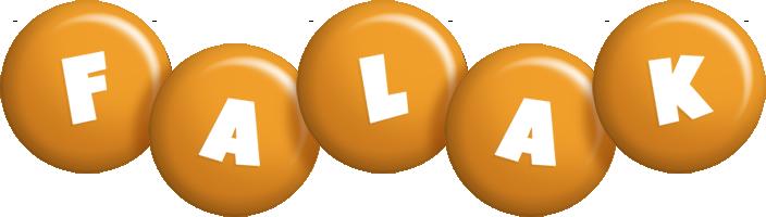 Falak candy-orange logo