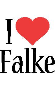Falke i-love logo