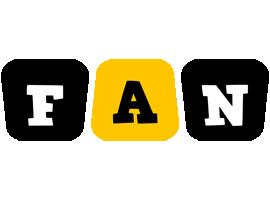 Fan boots logo