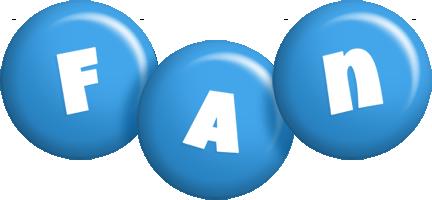 Fan candy-blue logo