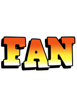 Fan sunset logo