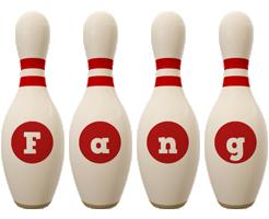 Fang bowling-pin logo