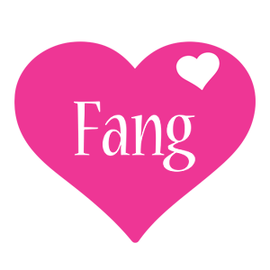 Fang love-heart logo