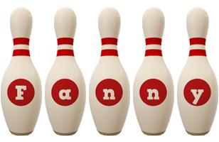 Fanny bowling-pin logo