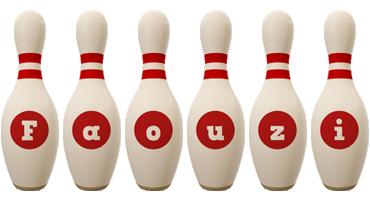 Faouzi bowling-pin logo