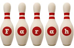 Farah bowling-pin logo