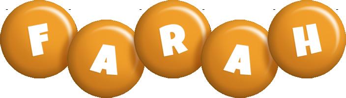 Farah candy-orange logo