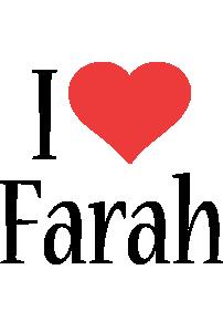 Farah i-love logo