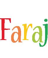 Faraj birthday logo