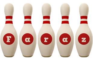 Faraz bowling-pin logo