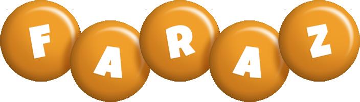 Faraz candy-orange logo