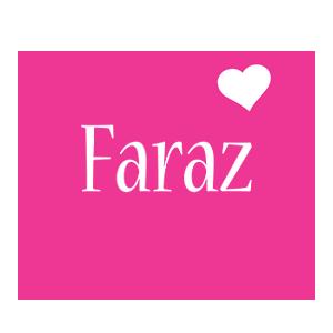 Faraz love-heart logo