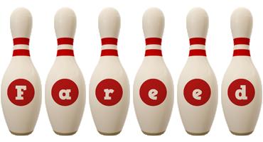 Fareed bowling-pin logo