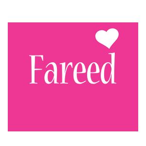 Fareed love-heart logo