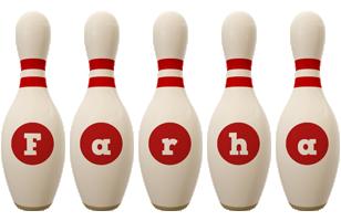 Farha bowling-pin logo
