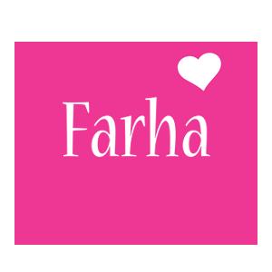 Farha love-heart logo