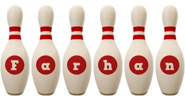 Farhan bowling-pin logo