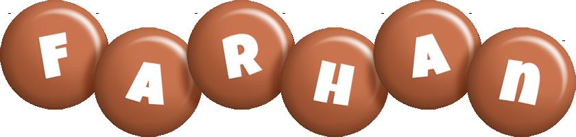Farhan candy-brown logo