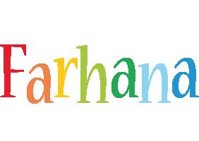 Farhana birthday logo