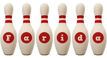 Farida bowling-pin logo