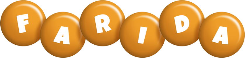 Farida candy-orange logo