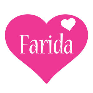 Farida love-heart logo