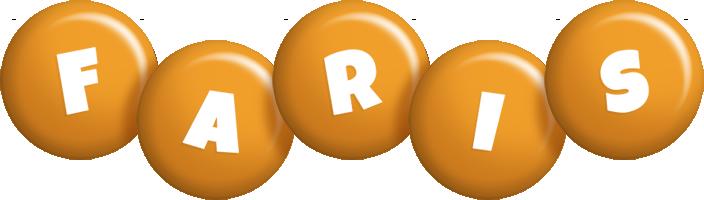 Faris candy-orange logo