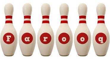 Farooq bowling-pin logo