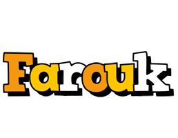 Farouk cartoon logo
