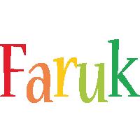 Faruk birthday logo