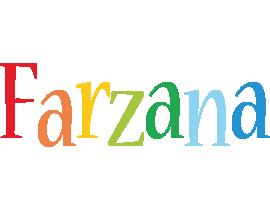 Farzana birthday logo