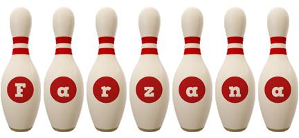 Farzana bowling-pin logo