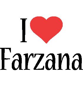 Farzana i-love logo