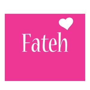 Fateh love-heart logo