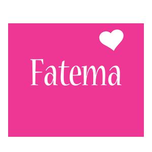 Fatema love-heart logo