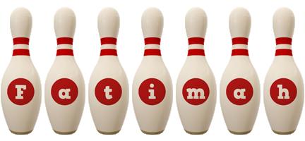 Fatimah bowling-pin logo