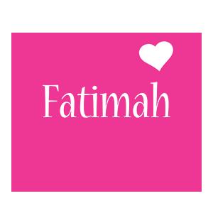 Fatimah love-heart logo