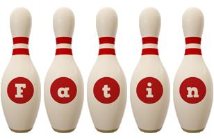 Fatin bowling-pin logo