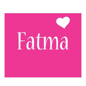 Fatma love-heart logo