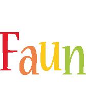 Faun birthday logo