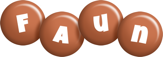 Faun candy-brown logo