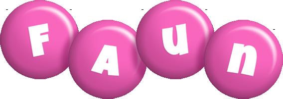 Faun candy-pink logo