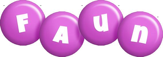 Faun candy-purple logo
